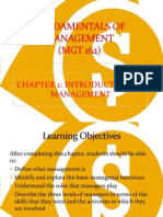 Chapter 1-Introduction to Management