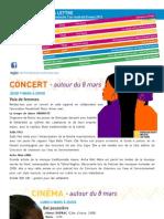 La Lettre de l'IFM Du 3 Au 8 Mars 2013
