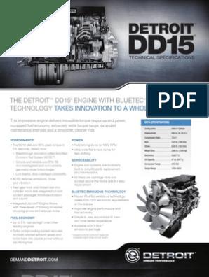 1 13-DD15-Spec-Sheet-FNL2-DDC-6215 | Engines | Turbocharger