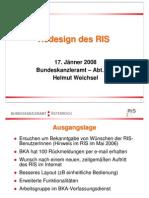 Folien RIS Redesign 2008