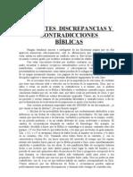 APARENTES DISCREPANCIAS Y CONTRADICCIONES BÍBLICAS