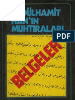 Mehmet Hocaoğlu Abdülhamit Hanı'n ralar