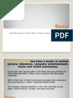 sony marketing plan slide show