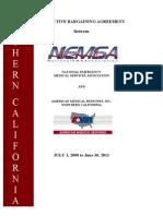 NEMSA Northern California CBA 2008-2011