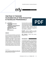 One Road to Turnover_ an Examination of Work Exhaustion in Techn