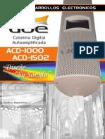 INFORMACION TECNICA Y COMERCIAL DE COLUMNAS DIGITALES UDE AUDIO MODELO ACD-1000 ACD-1502