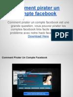 Comment Pirater Un Compte Facebook