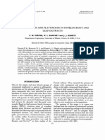 Phenolic Acids and Flavonoids in Soybean Root and Leaf Extracts