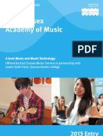 East Sussex Academy of Music Prospectus 2013 Entry