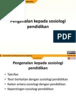 Topik 1 Pengenalan Sosio Pendidikan