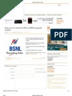 Activate ISD BSNL Prepaid