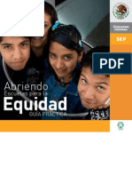 Abriendo Escuelas Para La Equidad
