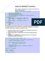 Style Guide for Matlab Functions