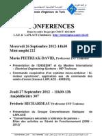 Conférences Maria & Frederic 26 Septembre 2012
