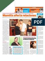Mamitis afecta las relaciones de pareja