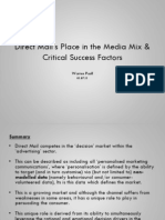 Direct Mail in the Marketing Mix & Critical Success Factors