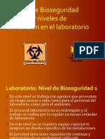 Bioseguridad Niveles y Medids de Proteccion