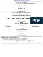 FIRST ADVANTAGE CORP 8-K (Events or Changes Between Quarterly Reports) 2009-02-24