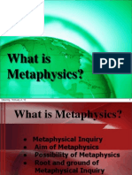 What is Metaphysics (1)