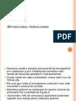 Metabolismul hemoglobinei prezentare
