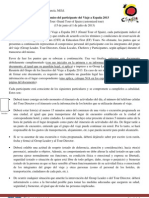 17. Compromiso Del Participante - VE 2013