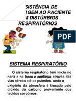 ASSISTÊNCIA DE ENFERMAGEM AO PACIENTE COM DISTÚRBIOS RESPIRATÓRIOS