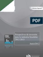 Informe Especial- Perspectivas de Inversion en Brasil 2012-2015