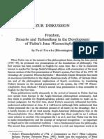 Franks_Tatsache and Tathandlung in the Development of Fichte's Jena Wissenschaftslehre