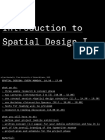Introduction to Spatial Design I