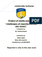 role of reporters at war zone
