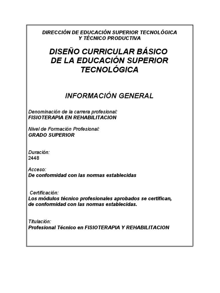 Plan Curricular Modular De FisioterapiaNUEVO