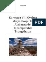 Karmapa VIII Gyalwa Mikyö Dorje En Alabanza del Incomparable Tsongkhapa
