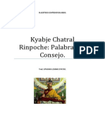 Kyabje Chatral Rinpoche Palabras de Consejo