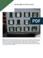 Modélisme ferroviaire à l'échelle HO. Confection des volets pour immeubles à l'échelle HO (4.) par Hervé Leclère