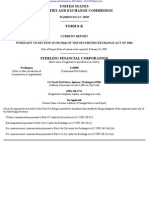 STERLING FINANCIAL CORP /WA/ 8-K (Events or Changes Between Quarterly Reports) 2009-02-24