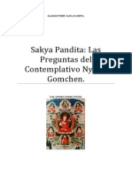 Sakya Pandita Las Preguntas Del Contemplativo Nyimo Gomchen