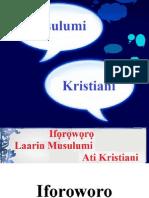 Ifọrọwọrọ Laarin Musulumi Ati Kristiani
