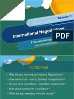International / Multicultural Negotiations