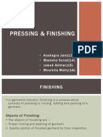 Finishing and Pressing