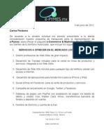 Propuesta E-Pymes Para Franquicias Internacionales