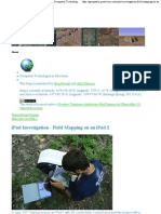 iPad Investigation - Field Mapping on an iPad 2 - Geospatial Technologies in Education