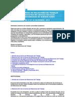 Boletín Informativo de Relaciones del Trabajo Año VI Nº 45 Diciembre 2012