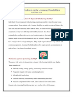 Learning Disabilities in Students