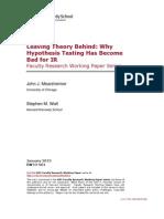 Walt - Leaving Theory Behind (2013)