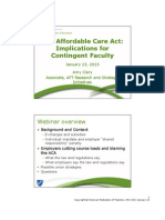 ACA Webinar for Contingent Faculty Jan 23 2013