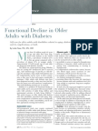 Functional Decline in Older Adults With Diabetes