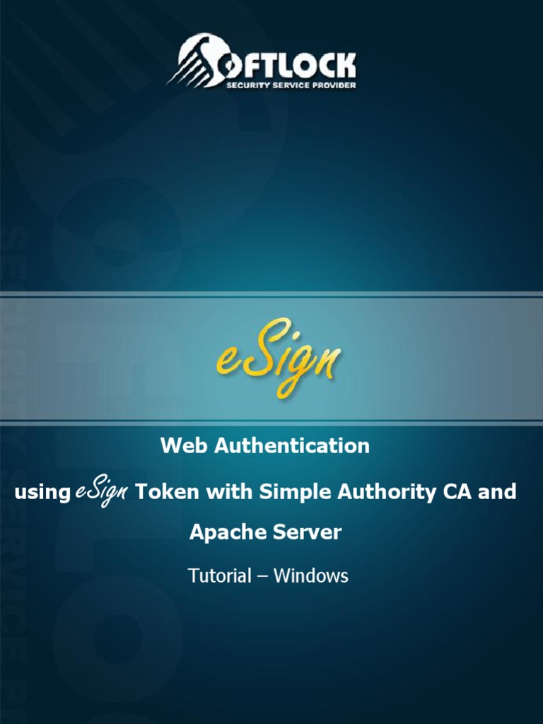 Web-Authentication-using-eSign-Token-with-Simple-Authority-CA-and