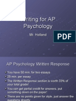 Writing for AP Psychology