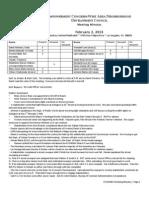 ECWANDC Minutes - February 2, 2013
