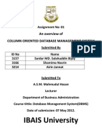 Column Oriented Databse Management System